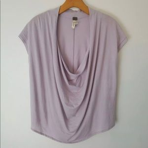 Free People Lavender Scoop Neck Shirt